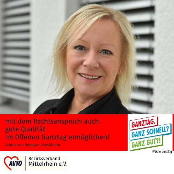 Statement der Vorständin Sabine von Homeyer zur Aktion der AWO #Guter Ganztag